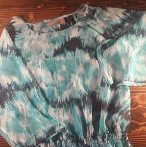 Chico's  Ladies Size 2 (12) Sheer Blue Blouse